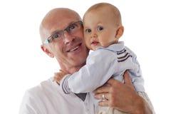 父亲和男婴 库存照片
