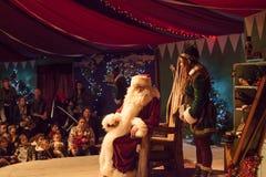 父亲圣诞节圣诞老人 免版税库存照片