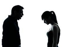 父亲女儿争议冲突 图库摄影