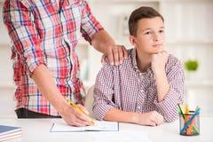 父亲家庭儿子 免版税库存图片
