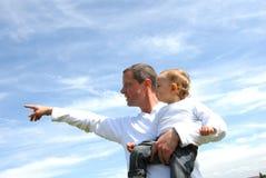 父亲纵向儿子 免版税库存照片