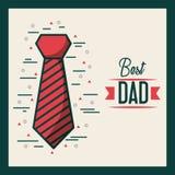 父亲节相关象和字法图象 向量例证
