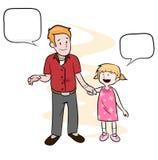 父亲&女儿 免版税库存图片