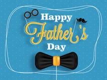父亲` s天庆祝的海报或横幅设计与stylis 免版税库存图片