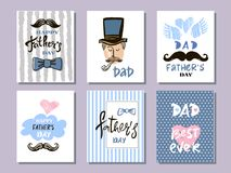 父亲` s天汇集cards12 皇族释放例证