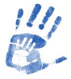父亲handprints例证儿子 免版税库存图片