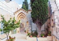 父亲Noster,橄榄山,耶路撒冷的教会 图库摄影