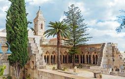 父亲Noster,橄榄山,耶路撒冷的教会 免版税库存图片