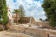 父亲Noster,橄榄山,耶路撒冷的教会 免版税库存照片