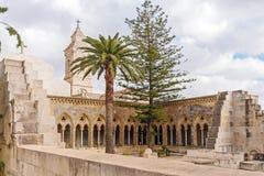 父亲Noster,橄榄山,耶路撒冷的教会 免版税图库摄影