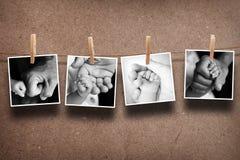 父母手和婴孩的图片 免版税库存图片
