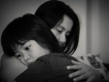 父母身分、爱和统一性概念 免版税库存图片