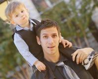 爸爸和子项 免版税库存图片