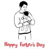 爸爸和婴孩可爱的拥抱的 免版税库存照片