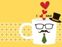 爸爸咖啡  免版税库存照片