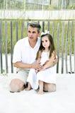 爸爸女孩也是s 免版税库存照片