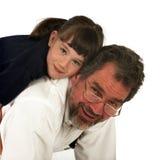 爸爸女孩他的 库存图片