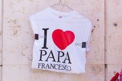 爸爸弗朗切斯科衬衣 免版税库存照片