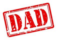 爸爸红色邮票文本 图库摄影
