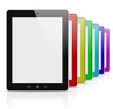 片剂个人计算机五颜六色的彩虹系列 免版税库存照片