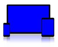 片剂个人计算机和智能手机 免版税图库摄影