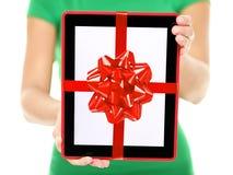 片剂个人计算机礼品 库存图片