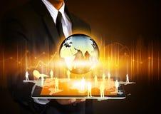 片剂技术企业概念 免版税图库摄影