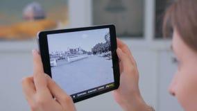 片剂被增添的现实app 股票视频