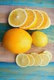 片式柠檬和桔子 图库摄影