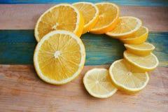 片式柠檬和桔子 库存照片