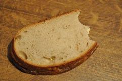 片式的叮咬面包 库存照片