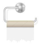 片断在持有人传染媒介例证的卫生纸 库存照片