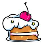 片断蛋糕樱桃 库存照片