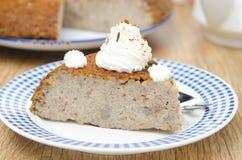 片断蛋糕(krupenik)与水平凝乳的奶油 免版税库存图片