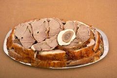 片断被烘烤的羊羔肉 免版税图库摄影