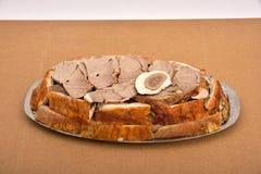 片断被烘烤的羊羔肉 免版税库存图片