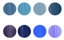 8片树荫蓝色色板显示  库存例证