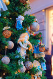 片段其中一个圣诞节-装饰的Ch的主要标志 库存照片
