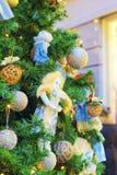 片段其中一个圣诞节-装饰的Ch的主要标志 免版税库存图片