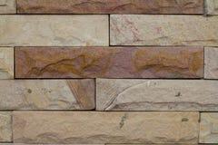 片段墙壁正方形石头块 库存图片