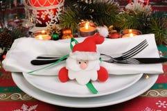 片段服务圣诞节桌 图库摄影