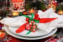 片段服务圣诞节桌 库存图片