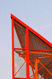 片段现代屋顶 图库摄影