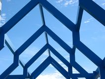 片段现代结构 库存图片