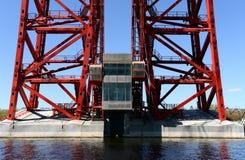 片段设计美丽如画的桥梁在莫斯科 免版税库存图片