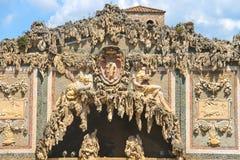 片段洞穴Buontalenti在Boboli庭院里 免版税库存照片