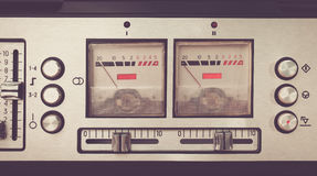 片盘录音机减速火箭的micrphone hd照片 库存照片