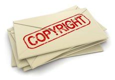 版权信件(包括的裁减路线) 免版税库存图片