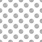 版权标志样式无缝的传染媒介 库存例证