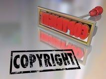 版权烙铁名字产品保护 图库摄影
